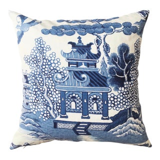 Lee Jofa Willow Chinoiserie Pillow For Sale