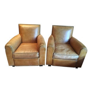 Ralph Lauren Colorado Leather Chairs - A Pair