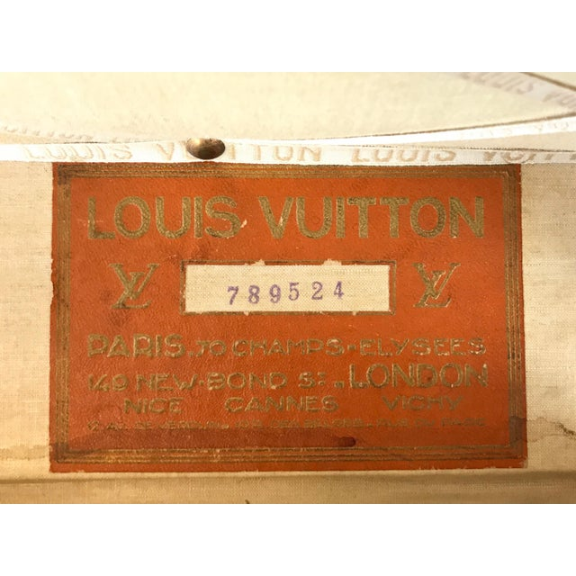 1950s Louis Vuitton Monogram Lady's Steamer Trunk For Sale - Image 9 of 13