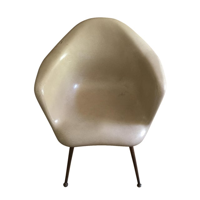 Chromcraft Mid-Century Modern Fiberglass Chair For Sale