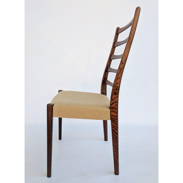 Brown 1960s Danish Modern Svegards Markaryd Rosewood Ladder Back Dining Chairs - Set of 4 For Sale - Image 8 of 13