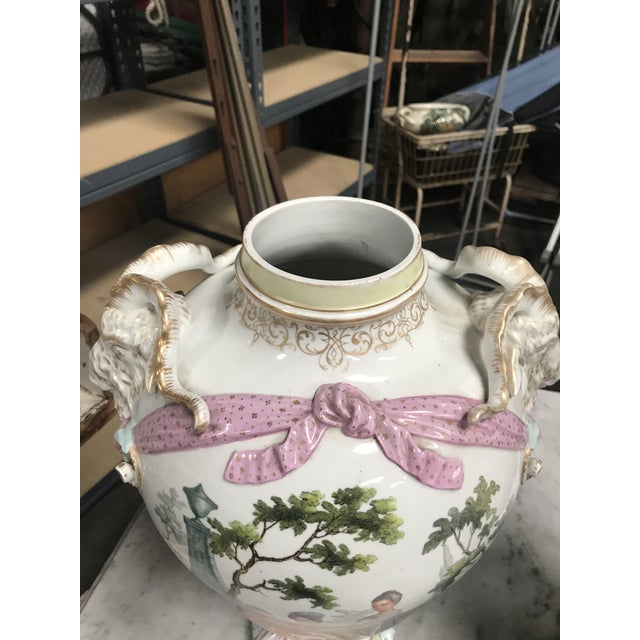 19th Century Large Porcelain Urns/Bases - a Pair For Sale - Image 10 of 12