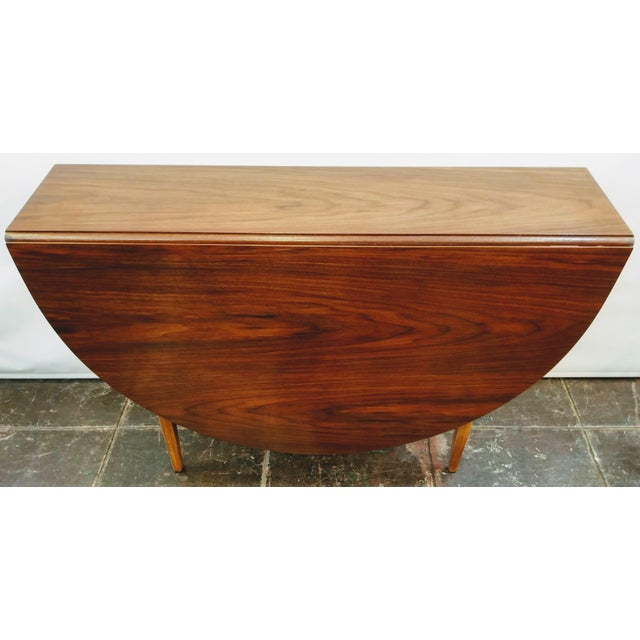 Wood Mid-Century Danish Modern Sutcliffe of Todmorden S Form Drop Leaf Table For Sale - Image 7 of 12