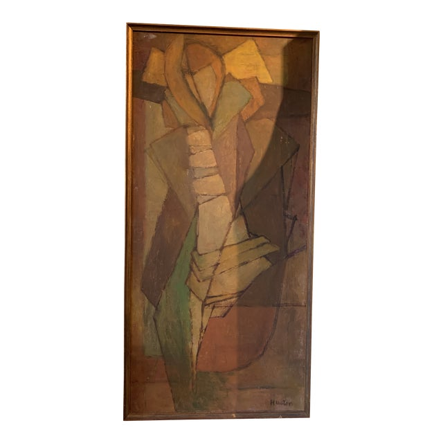 1950s Abstract Figure Janet Huston Painting NW Movement For Sale