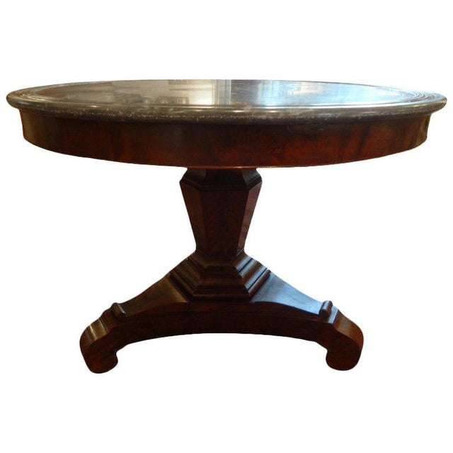 19th Century French Restauration Period Walnut Center Table For Sale - Image 10 of 11