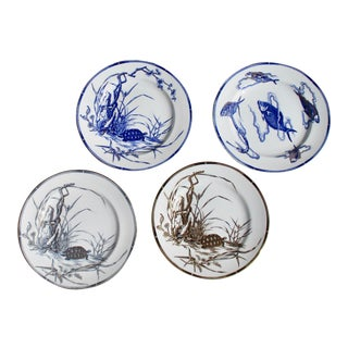 Four Royal Worcester Hand Painted English Porcelain Serving Dishes 1870's - a Set of 4 For Sale