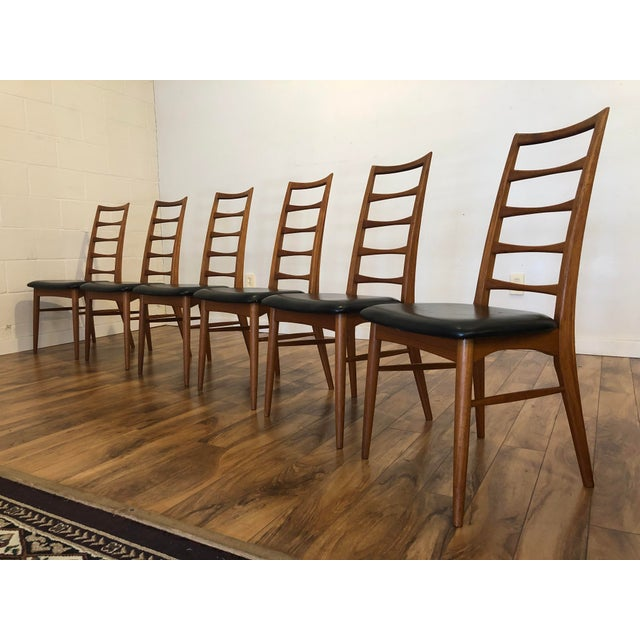 Niels Koefoed for Koefoeds Hornslet Lis Teak Ladder Back Dining Chairs - Set of 6 For Sale In Seattle - Image 6 of 13