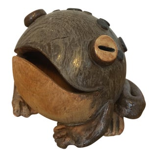 Mid Century Pottery Frog For Sale