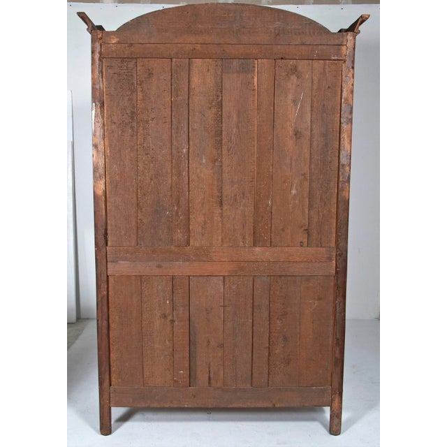 18th Century french Louis XVI Walnut Chateau Armoire For Sale - Image 4 of 9