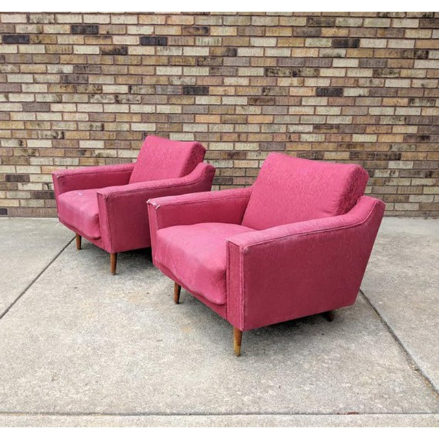 Lawrence Peabody 1960s Mid Century Modern Lawrence Peabody Style Lounge Chairs - a Pair For Sale - Image 4 of 10