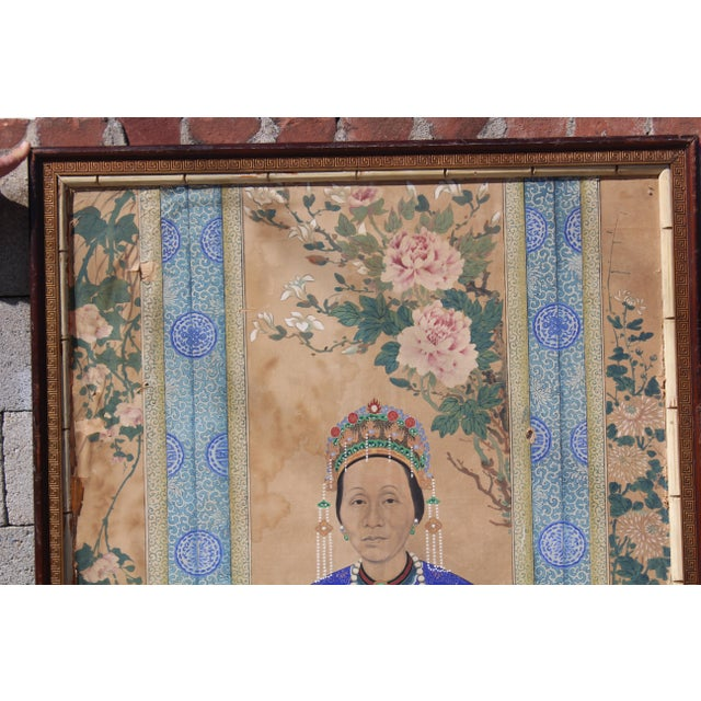Late Ching Chinese Court Lady Painting For Sale - Image 4 of 8