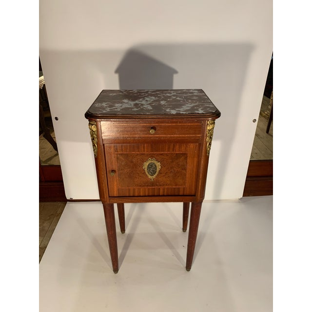 Antique French Bedside Cabinet For Sale - Image 9 of 9