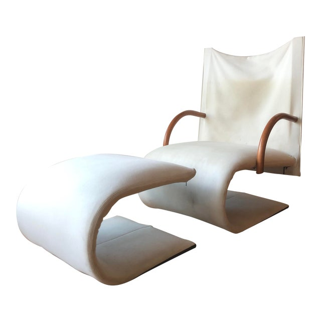 Sculptural Zen Chair and Ottoman by Ligne Roset For Sale