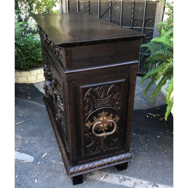 Antique Italian Renaissance Carved Figural Chest For Sale In Los Angeles - Image 6 of 6