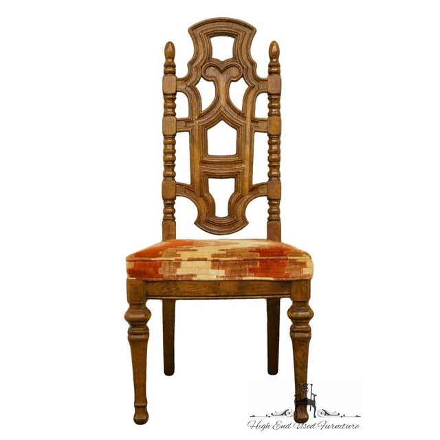 Stanley Furniture Stanley Furniture Jacobean Style Dining / Side Chair For Sale - Image 4 of 13