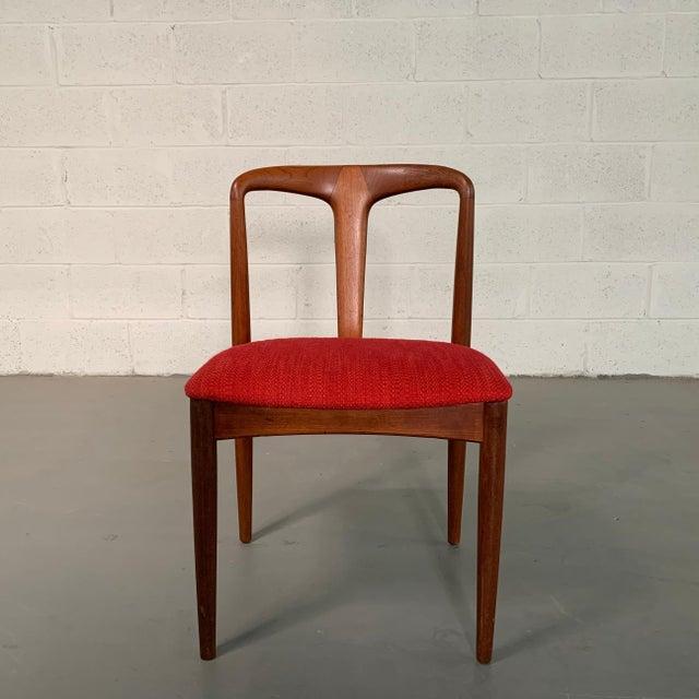 "Mid-Century Modern Vintage Mid Century Danish Modern Teak ""Juliane"" Chair For Sale - Image 3 of 10"