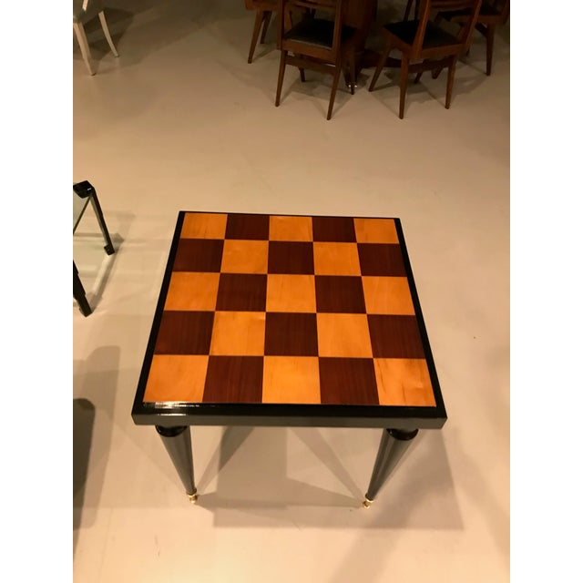 1940s French Art Deco Ebony Game Table or Centre Table For Sale - Image 4 of 11