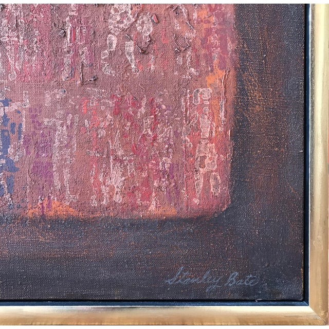 Canvas Stanley Bate, Untitled Painting, Circa 1960 For Sale - Image 7 of 10