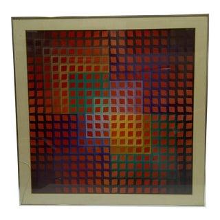 """Original Framed Victor Vasarely Print """"Klange II"""""""