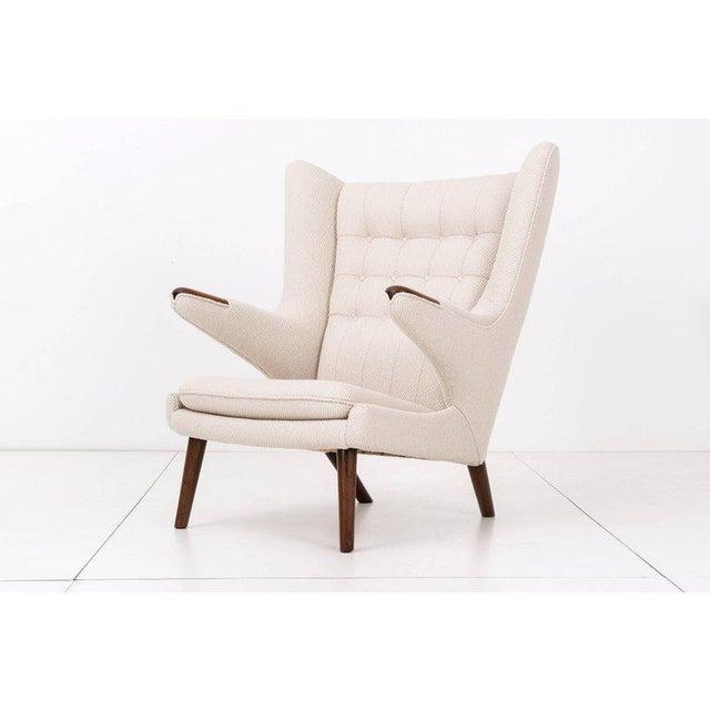 Hans J. Wegner Papa Bear Chair and Ottoman - Image 3 of 7