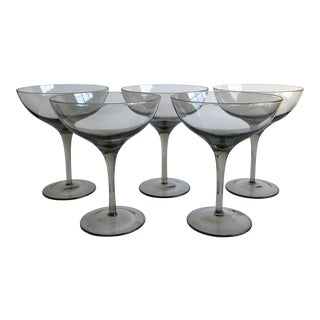 Mid-Century Champagne Coupes - Set of 5