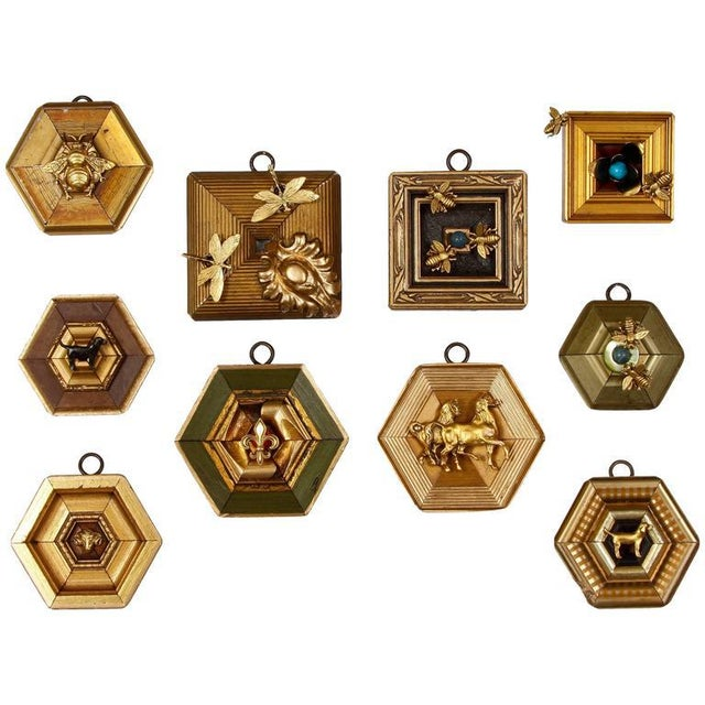 """A beautiful and charming collection of small frames, known as """"Museum bees"""" created by Trace Mayer. Carefully created from..."""