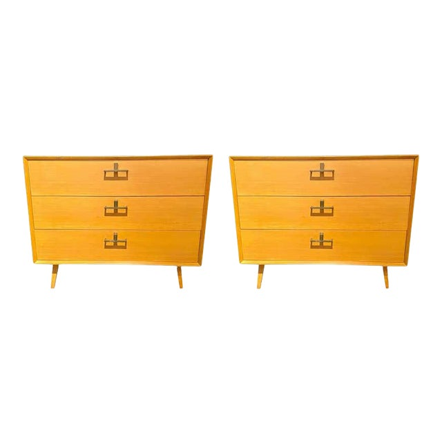 Pair of Mid-Century Modern Bachelor Chest, Commodes or Dressers For Sale