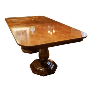 20th Century Traditional Henredon Double Pedestal Dining Table For Sale