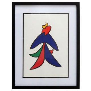 """1963 """"Dancer"""" Modern Abstract Screen Print After Alexander Calder, Framed For Sale"""
