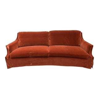 Gregorius Pineo Orleans Crescent Mohair Sofa For Sale