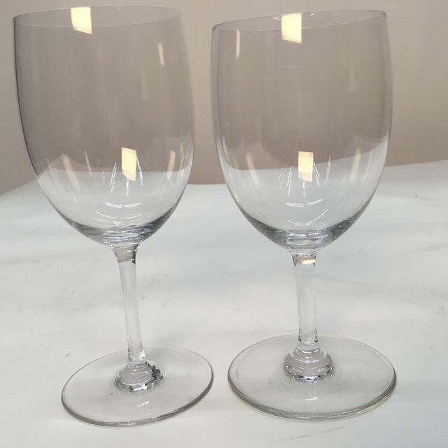 French Baccarat France Crystal Wine Glasses - a Pair For Sale - Image 3 of 7