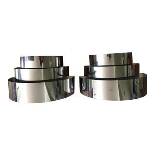 Lightolier Chrome Ribbon Sconces - A Pair