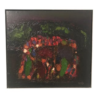 """Abstract Expressionist Ralph Rosenborg: """"Mountain Landscape"""" 1956-1960 For Sale"""