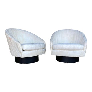 Milo Baughman Swivel Lounge Chairs - a Pair For Sale