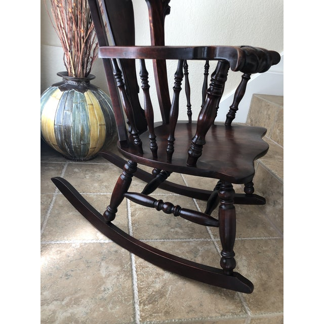 Jacobean Colonial Revival-Inspired Carved Rocking Chair For Sale - Image 12 of 13