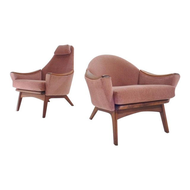 Mid Century His & Hers Adrian Pearsall Lounge Chairs For Sale