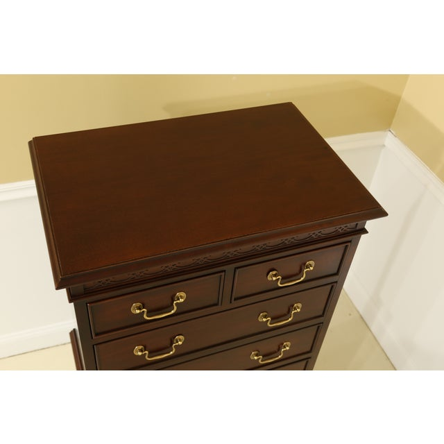 Century Furniture Century 8 Drawer Chippendale Style Mahogany Lingerie Chest For Sale - Image 4 of 11
