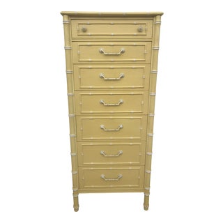 Thomasville Faux Bamboo Lingerie Chest of Drawers For Sale