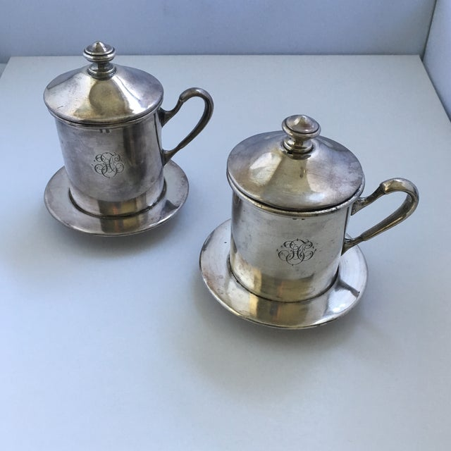 French Silverware Egoist Tea Cup Filter Set, 1850 For Sale - Image 4 of 11