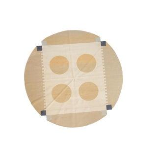 "Vintage Contemporary Kilim Round Carpet - 6'8"" X 6'9"" For Sale"