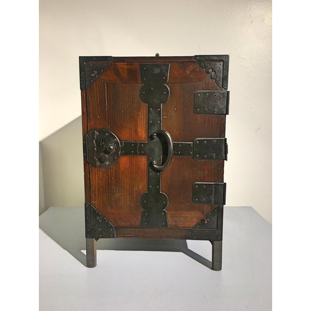 Asian Japanese Meiji Period Ship Chest, Fune Tansu, dated 1883 For Sale - Image 3 of 11