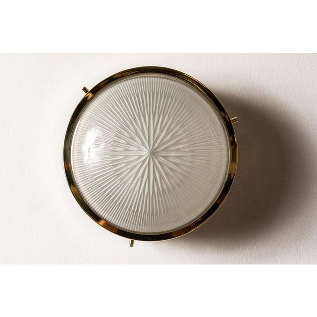 1960s Sergio Mazza Brass 'Sigma' Wall or Ceiling Light for Artemide For Sale - Image 9 of 13