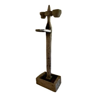 Antique Oil Lamp Stand For Sale