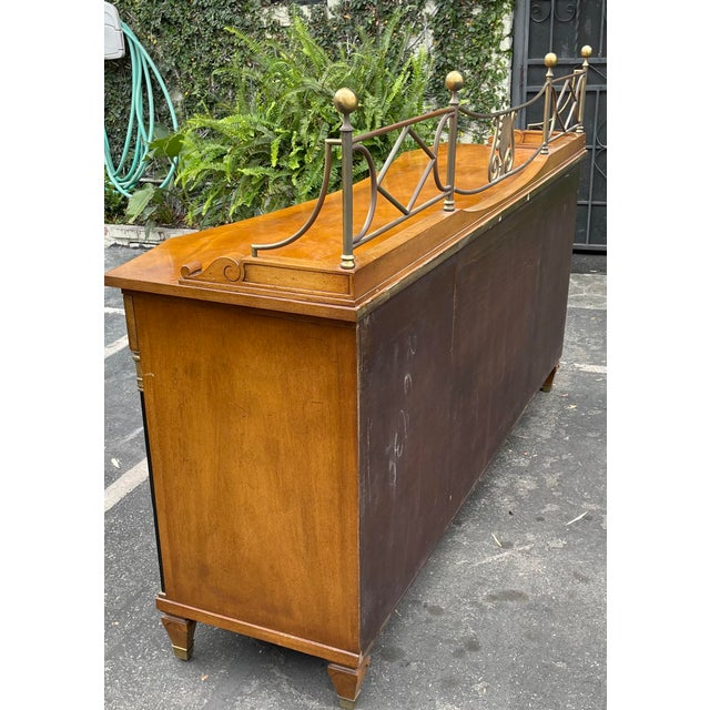 Sienna Grosfeld House Hollywood Regency Empire Credenza Buffet Server For Sale - Image 8 of 9