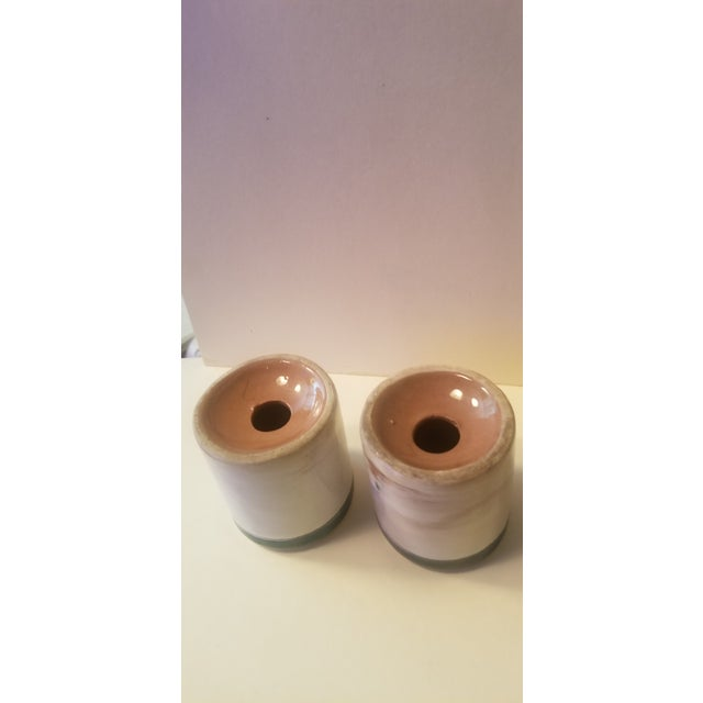 Mid 20th Century Early Mid Century Stangl Flowers Salt and Pepper Shakers - a Pair For Sale - Image 5 of 10