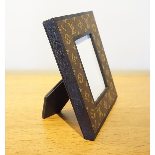 Contemporary Louis Vuitton Leather Photo Frame For Sale - Image 3 of 5