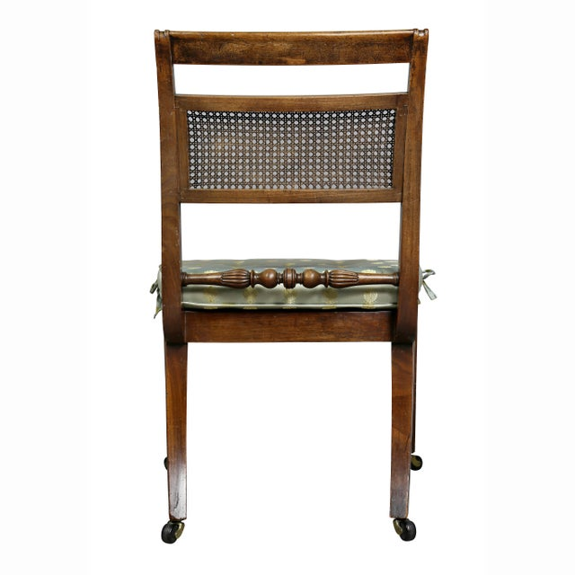 Regency Mahogany and Ebony Inlaid Armchair For Sale - Image 12 of 13