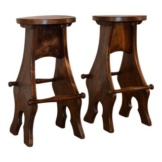 Pair of English Barstools, Ca. 1950s For Sale