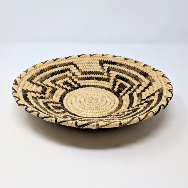 Native American 20th Century Native American Tohono O'odham Woven Basket For Sale - Image 3 of 9
