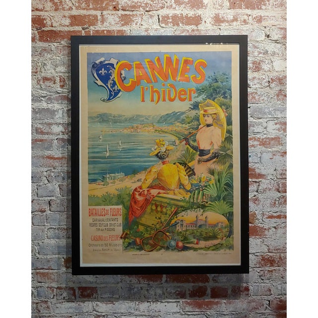 Original 1892 Cannes L'Hiver, Casino Des Fleurs French Poster For Sale - Image 11 of 11